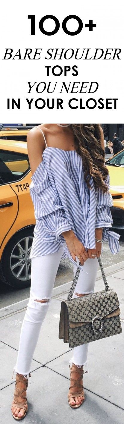 100+ Bare Shoulder Tops You Need In Your Closet