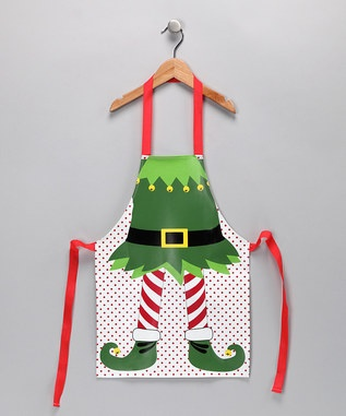 Kids Elf Cleaning Apron!  Too cute for those little ones trying to impress Santa!
