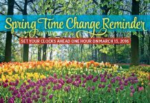 Spring Time Change - Monthly Real Estate Prospecting Postcards. Buy 5 months, get one free! #realestate