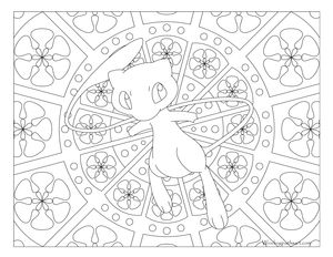 Free Printable Pokemon Coloring Page Mew Visit Our For More Fun All Ages Adults And Children