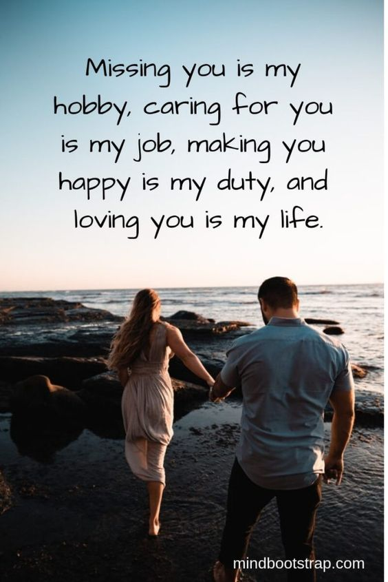 Miss You Quotes, Sayings, and Messages For Him/Her - Boostupliving | Love quotes for girlfriend