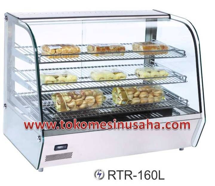 Food Warmer adalah rak yang didesign khusus untuk menghangatkan makanan siap saji, seperti pizza, bakmi, aneka lauk dan sayur.  Type : RTR-160L  Dimensi : 85,6 x 56,8 x 67 cm  Volume : 160 L  Power : 1500 W  Temperatur : 30 - 70° C  Berat : 56 Kg