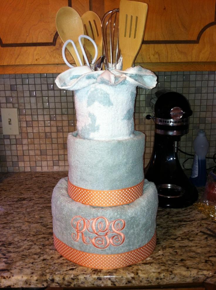 bridal shower towel cake cute ideas pinterest towel cakes bridal shower and towels. Black Bedroom Furniture Sets. Home Design Ideas
