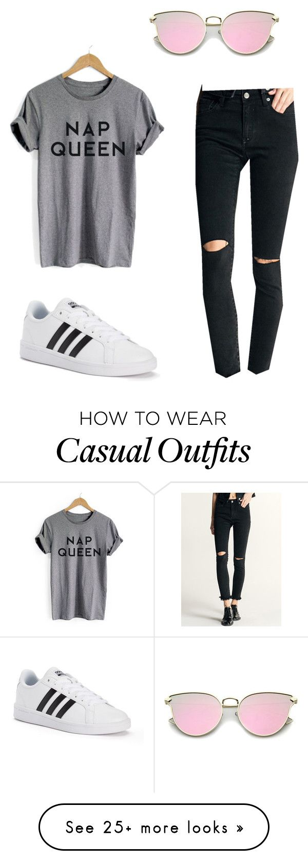 """""""Casual outfit"""" by heidycarina on Polyvore featuring adidas"""