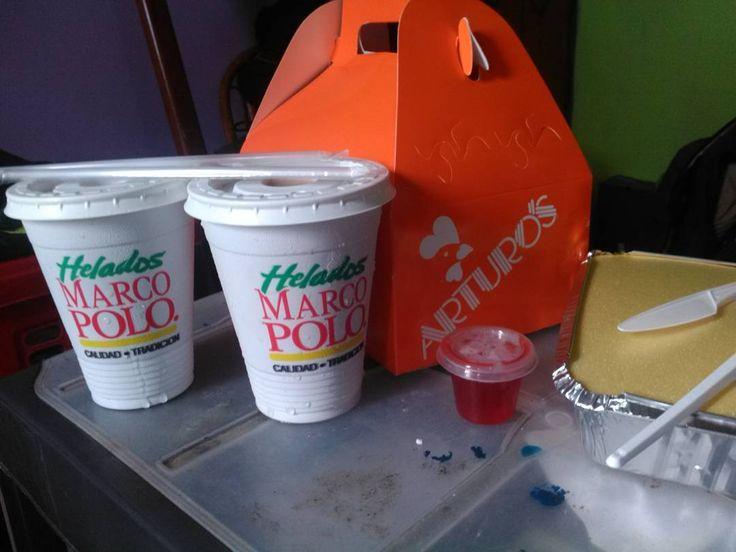 Heladitos #MarcoPolo 4 (#milkshake ). Pollillo Arturo 3 . combo 2 de red dragon (#chinesefood en Babilon) 5 Uno de nuestros almuerzitos hace unos días #EFVsFLAa