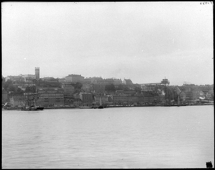 Södermalm med stadsgårdskajen ca 1890