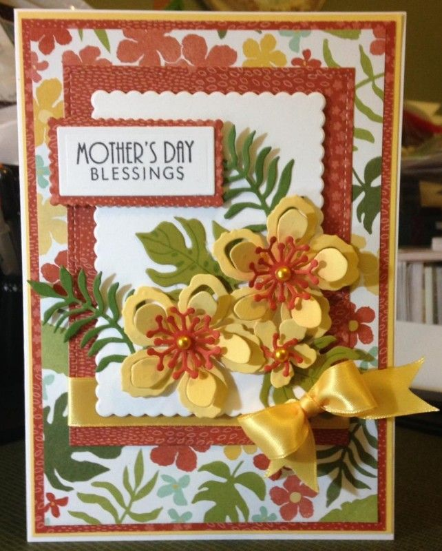 Just Got The Botanical Blooms Set From Stampin Up From The 2016 Occasions  Catalog. I Love These Blooms And The Matching Botanical Garden Paper.