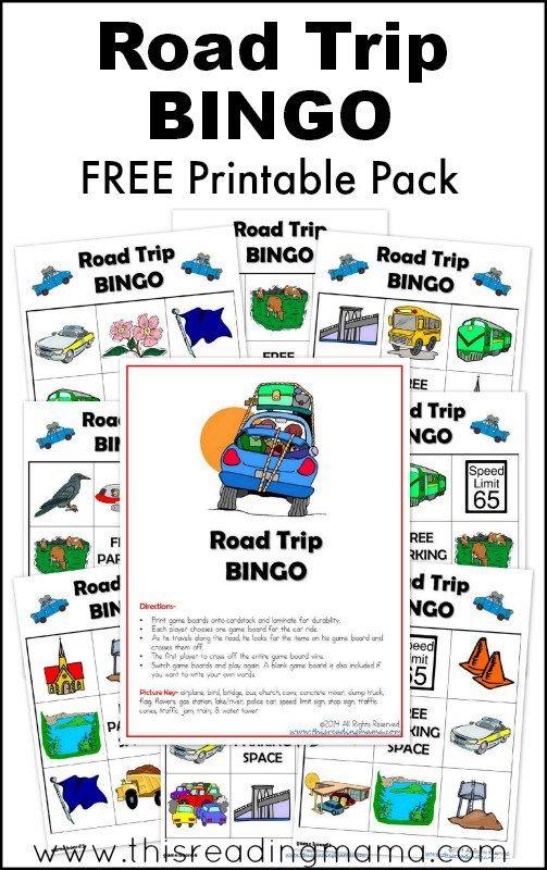 FREE Printable Road Trip BINGO Pack | This Reading Mama