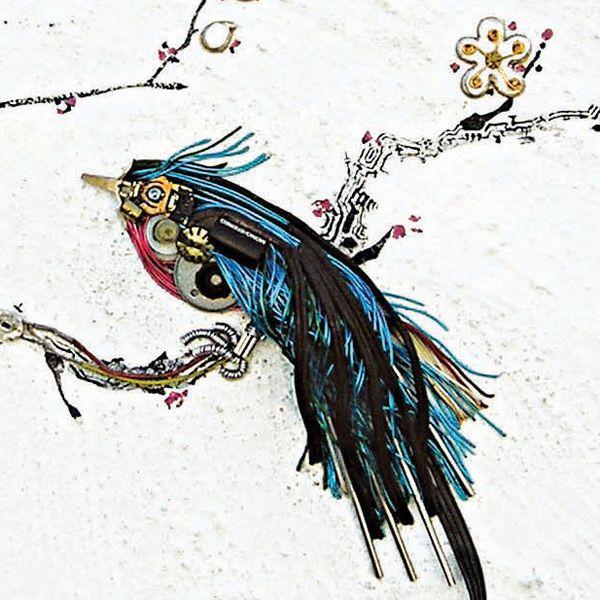 Kim Yong Soo painting electronics birds