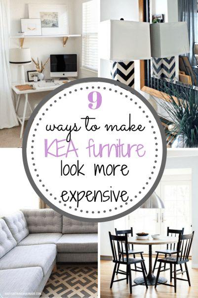 9 Ways to Make IKEA Furniture Look More Expensive| IKEA Furniture, DIY Home, DIY Home Decor, Easy Home Decor, Remodeled Home, Home Remodeling, DIY Home #ikea #ikeahack #ikeaideas #ikeafarmhouse