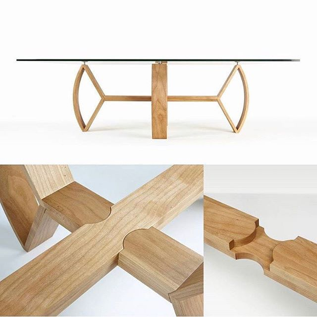 Repost @woodreview. My Crossbow coffee table in American Cherry. Part of @bwoodworks Next exhibition in 2013. Featured a really interesting knock down joint that was visible through the glass table top. #joinery #crossbowtable #handcrafted #furnituremaker #furnitureperth #australianmade #dunsborough