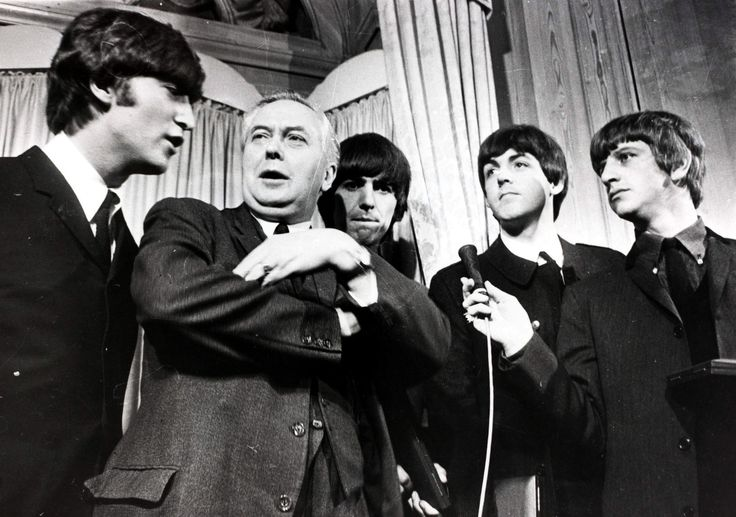 The Beatles meet Prime Minister Harold Wilson, March 1964.