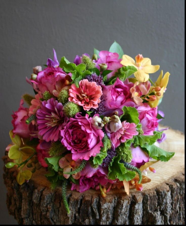 Wonderful zinnia wedding bouquet with wedding flowers dallas