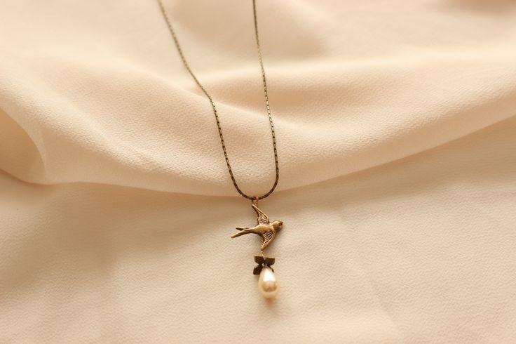 Sweet Sparrow Necklace - Bridal Jewelry, Wedding Jewelry, Bridesmaid Jewelry, Mother of the Bride Jewelry http://www.robingoodfellowdesigns.com/woodnymph-necklaces/bird-woodnymph-necklace