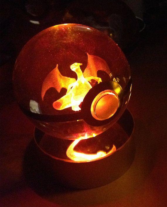 Charizard Pokemon Pokeball by PokeMasterCrafter on Etsy
