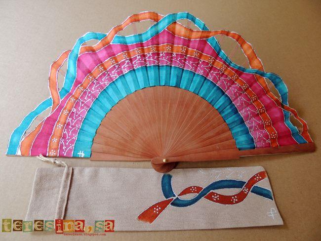 Abanico pintado a mano- hand painted Spanish fan