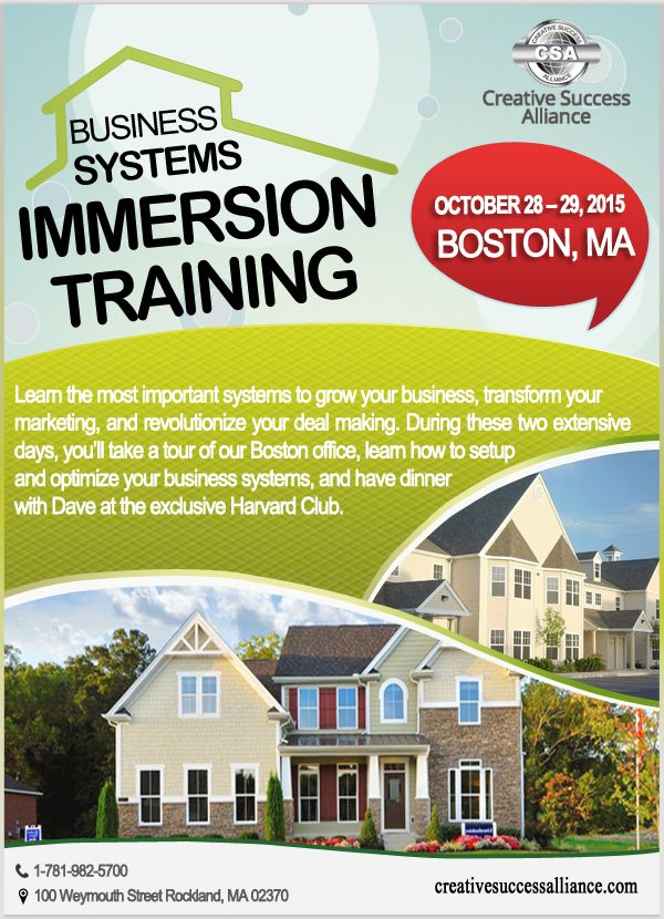Business Systems Immersion Training Date : October 28 – 29, 2015 #business  #training