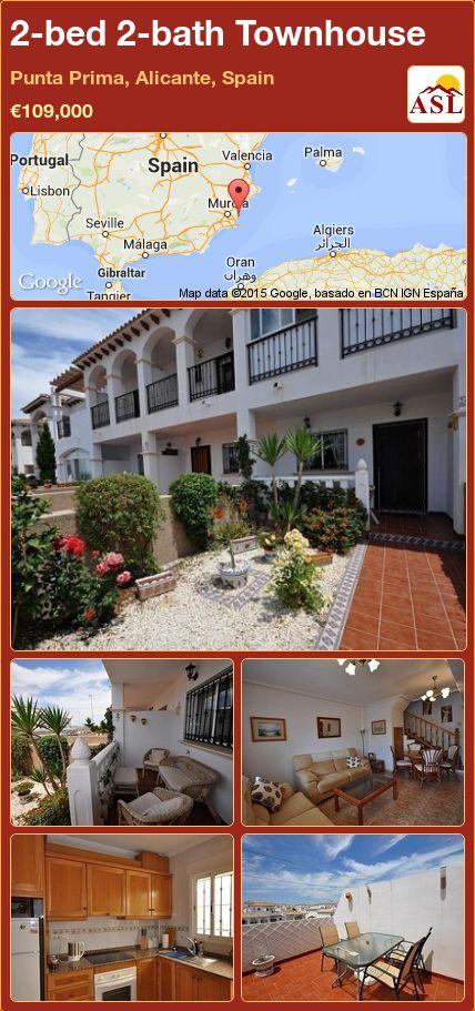 2-bed 2-bath Townhouse in Punta Prima, Alicante, Spain ►€109,000 #PropertyForSaleInSpain