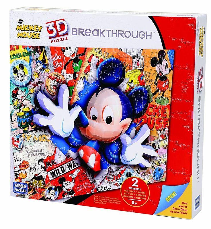 Mega Bloks 50674 - Puzzle 3D Disney Mickey Livello 2 - 200 pezzi