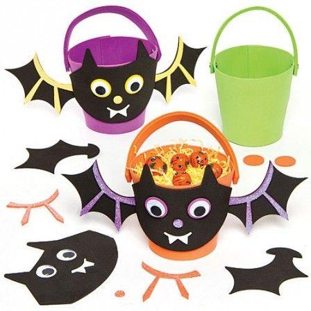sac bonbons halloween decoration seau pour bonbon d'halloween