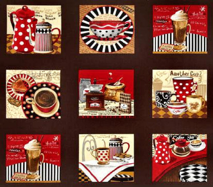 All About Coffee Fabric Panel Espresso