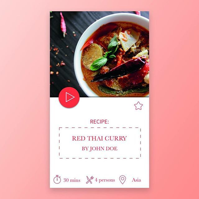 Daily work Day3 !  #ux #design #ui #dailywork #day3 #food #curry #thai #recipe #sketch #red