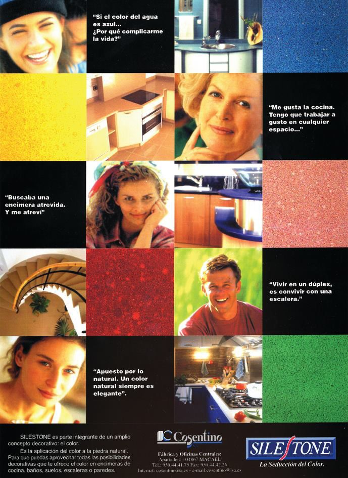 Did you know...? 1990: Silestone is launched in five colours: Gris Apolo, Rojo Marte, Azul electra, Verde Madea and Beige Olimpo. #Silestone25
