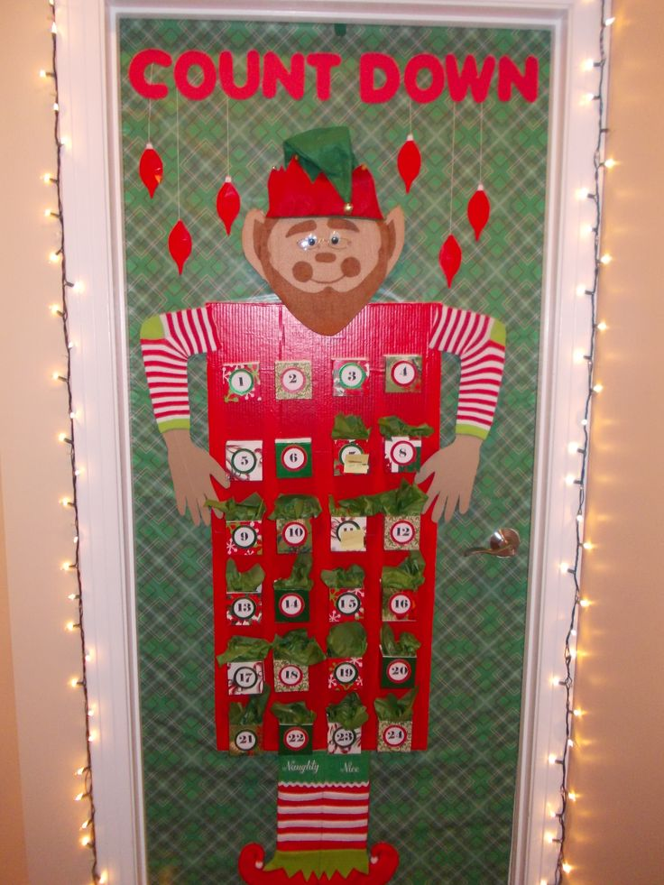 Classroom Door Decoration Ideas For Preschool Christmas ~ Christmas office door decoration advent calendar