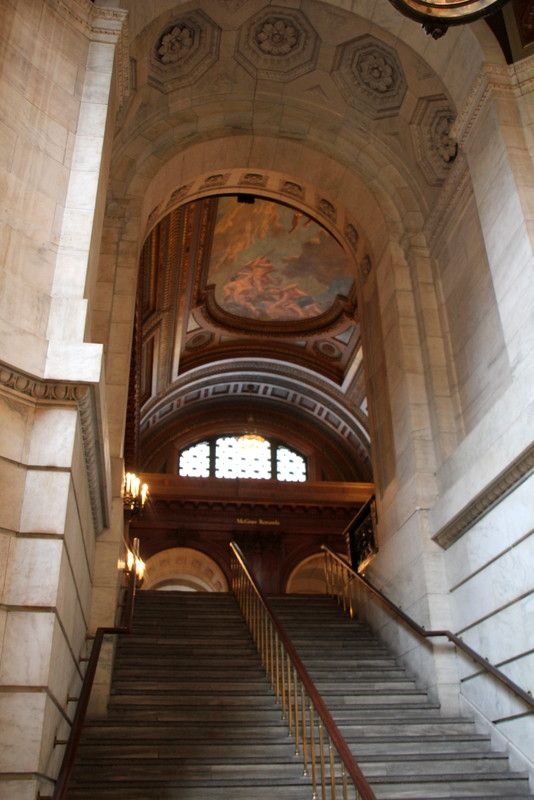 NYC Public Library grand staircase leading to reading rooms - See more at: http://chambersarchitects.com/blog/13-historical-design/208-chambers-architects-visits-a-new-york-beaux-arts-masterpiece.html#sthash.SMijukhN.dpuf And take a look at more photos like this at: http://chambersarchitects.com/blog.html Plus read an article on New York Graffiti, with lots of pictures, at: http://chambersarchitects.com/blog/6-travel/123-roadside-attractions-graffiti-or-art.html
