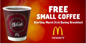 FREE Small Coffee at McDonald's