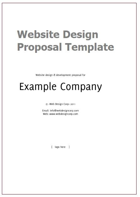Website Design Proposal Templates 3 Printable Pdf Word