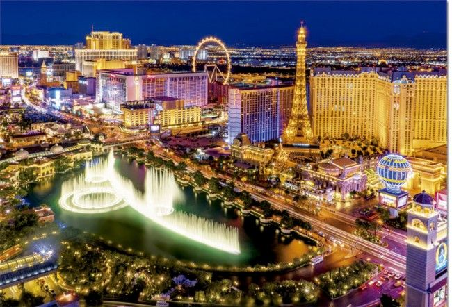 Photo Educa 16761 - Las Vegas - 1000 pieces glow in the dark jigsaw puzzle 1