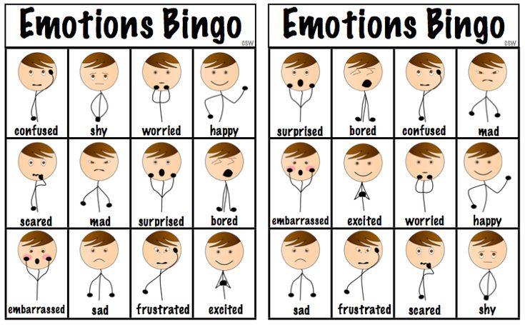 Эмоции на английском с картинками и переводом