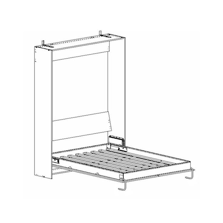 kit m canisme pour lit escamotable queen position verticale pr vu pour matelas 160x200 cm. Black Bedroom Furniture Sets. Home Design Ideas