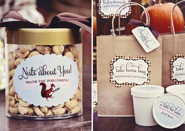 Woodland Theme Thanksgiving Party Favors