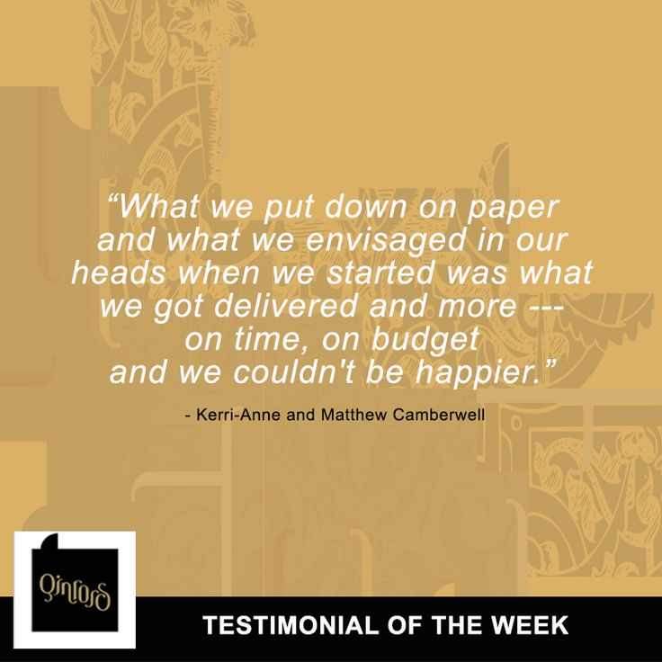 Hi everyone! Good morning! We just want to share this testimonial by our clients, Kerri-Anne and Matthew Camberwell! Satisfied clients like them make us more proud of our hard work and expertise. Thank you, Kerri-Anne and Matthew!