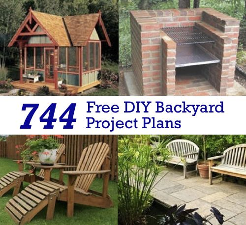 744 Free DIY Backyard Project Plans...http://homestead-and-survival.com/744-free-diy-backyard-project-plans/