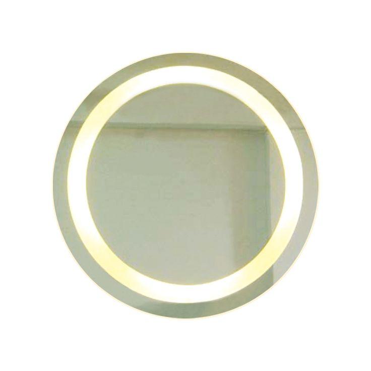 Backlit Round Bathroom Mirror with Border