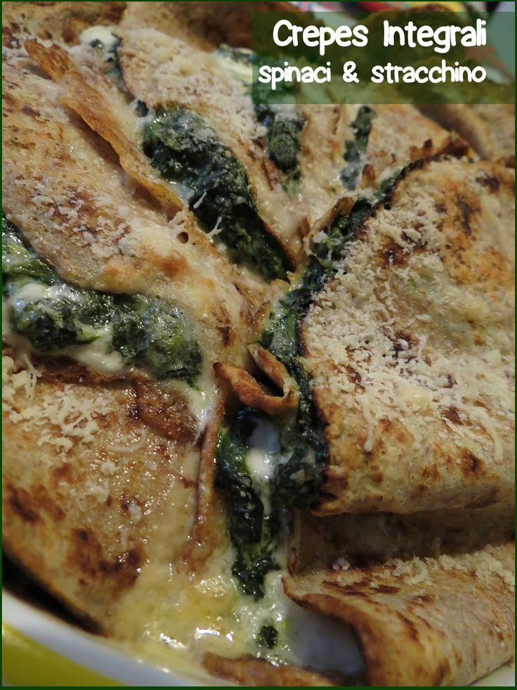 Peccati di Gola di Lella: CREPES INTEGRALI spinaci & stracchino http://peccatidigoladilella.blogspot.it/2014/08/crepes-integrali-spinaci-stracchino.html