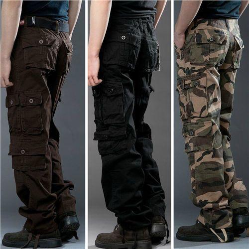 2015 Novo Masculino Casual militar do exército de carga de trabalho De Combate Camuflagem calças calças Pereira | Roupas, calçados e acessórios, Roupas masculinas, Calças | eBay!