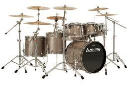 Ludwig Keystone 22/10/12/16 4 Piece Drum Set Shell Pack Pewter Glitter PRICE DROP!