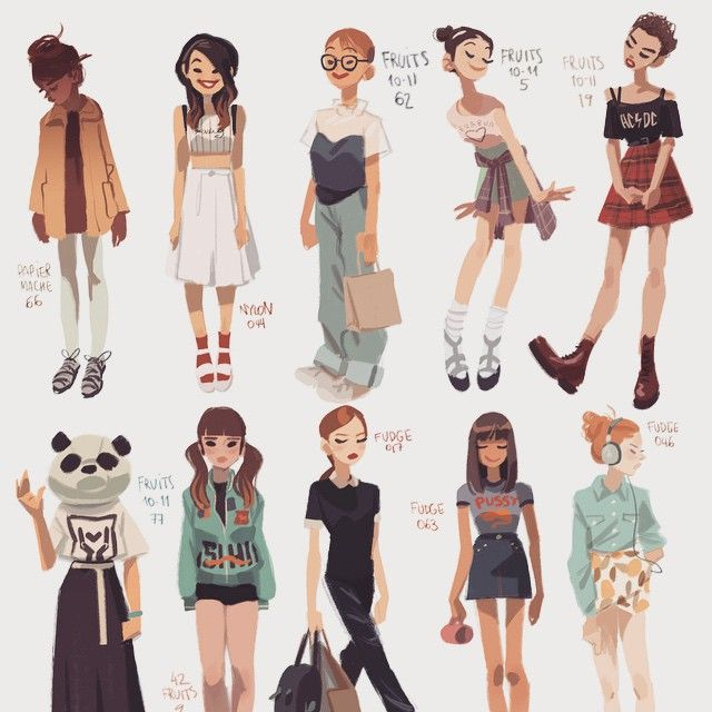 "Character Design Quarterly Vk : ""new magazine girls on my tumbl character"