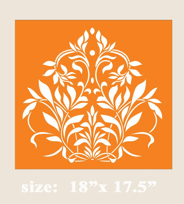 Stencil Boss | Aurora Damask Old World Allover Designer Pattern Wall Stencil | Online Store Powered by Storenvy