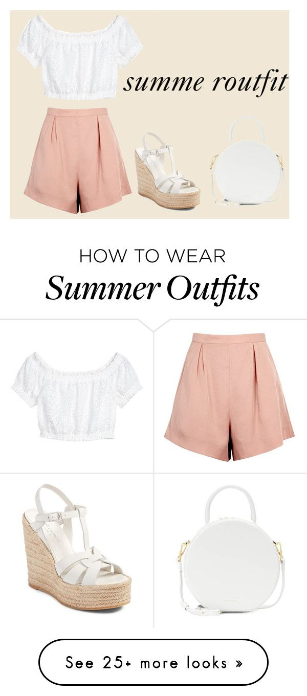 """""""summer outfit"""" by lilythefangirl on Polyvore featuring H&M, Finders Keepers, Yves Saint Laurent and Mansur Gavriel"""