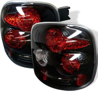 1999-2004 Chevy Silverado Stepside Euro Style Tail Lights - Black