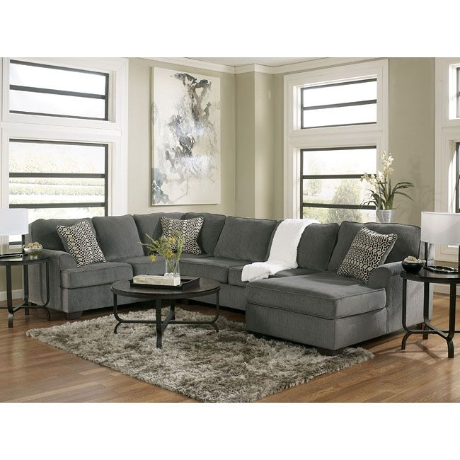 Ashley Furniture Vt: The Loric Smoke Sectional Set By Ashley Furniture Features