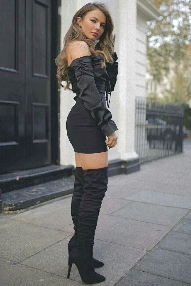 Pin By Loren Manrique On Outfits In 2019 High Heel Boots