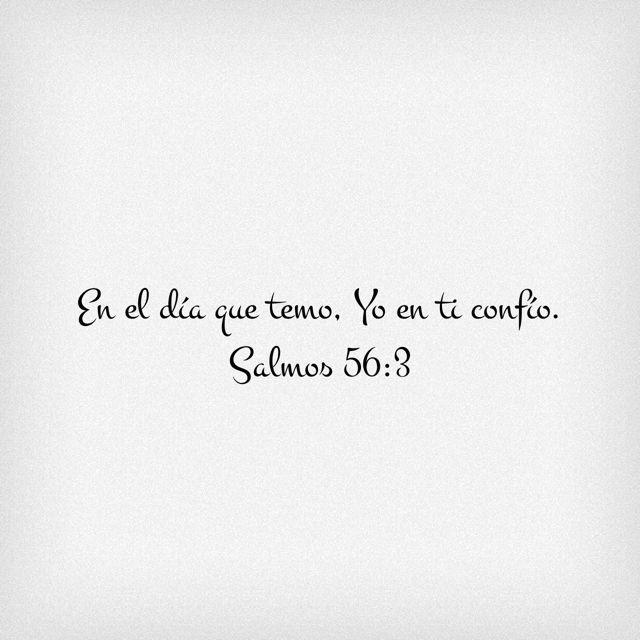 Salmos 56:3 En el día que temo, Yo en ti confío.♔
