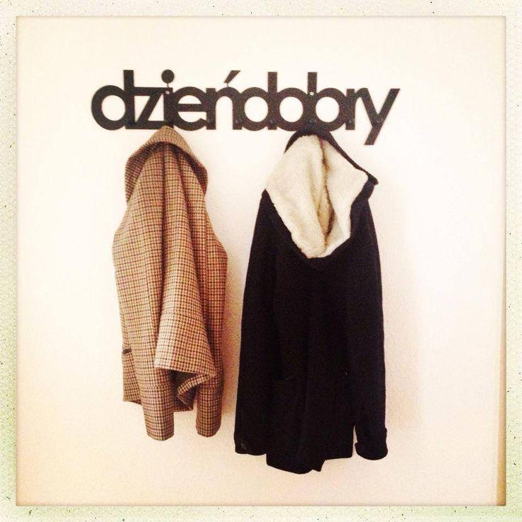 DZIEŃ DOBRY Coat Rack Wall / Hanger / Find us on https://www.facebook.com/Lumikki.design