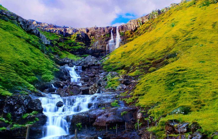 Waterfall in Streymoy, Faroe Islands by Julia  Apostolova on 500px